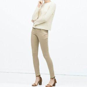 Zara TRF Khaki Core Denim Slim Pants 2